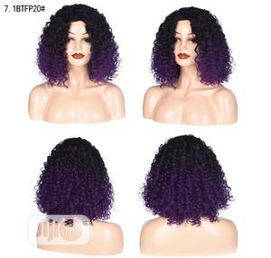 Black Deep Purple Short Curly Hair Wigs   Hair Beauty for sale in Lagos State, Ikeja