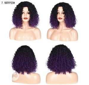 Pure Soft Black Deep Purple Short Curly Hair Wigs | Hair Beauty for sale in Lagos State, Ikoyi