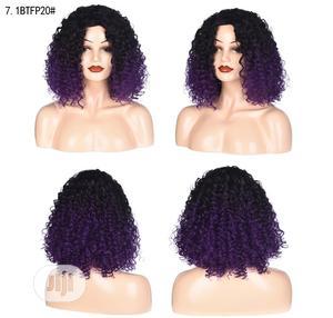 American Black Deep Purple Short Curly Hair Wig   Hair Beauty for sale in Lagos State, Surulere