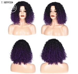 Short Curly Black Deep Purple Wigs | Hair Beauty for sale in Lagos State, Lekki