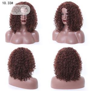 Silky Curly Hair Short Dark Brown Wigs   Hair Beauty for sale in Lagos State, Ikeja