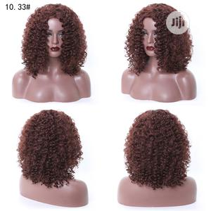Deep Brown Curly Silky Soft Human Hair Wig | Hair Beauty for sale in Lagos State, Victoria Island