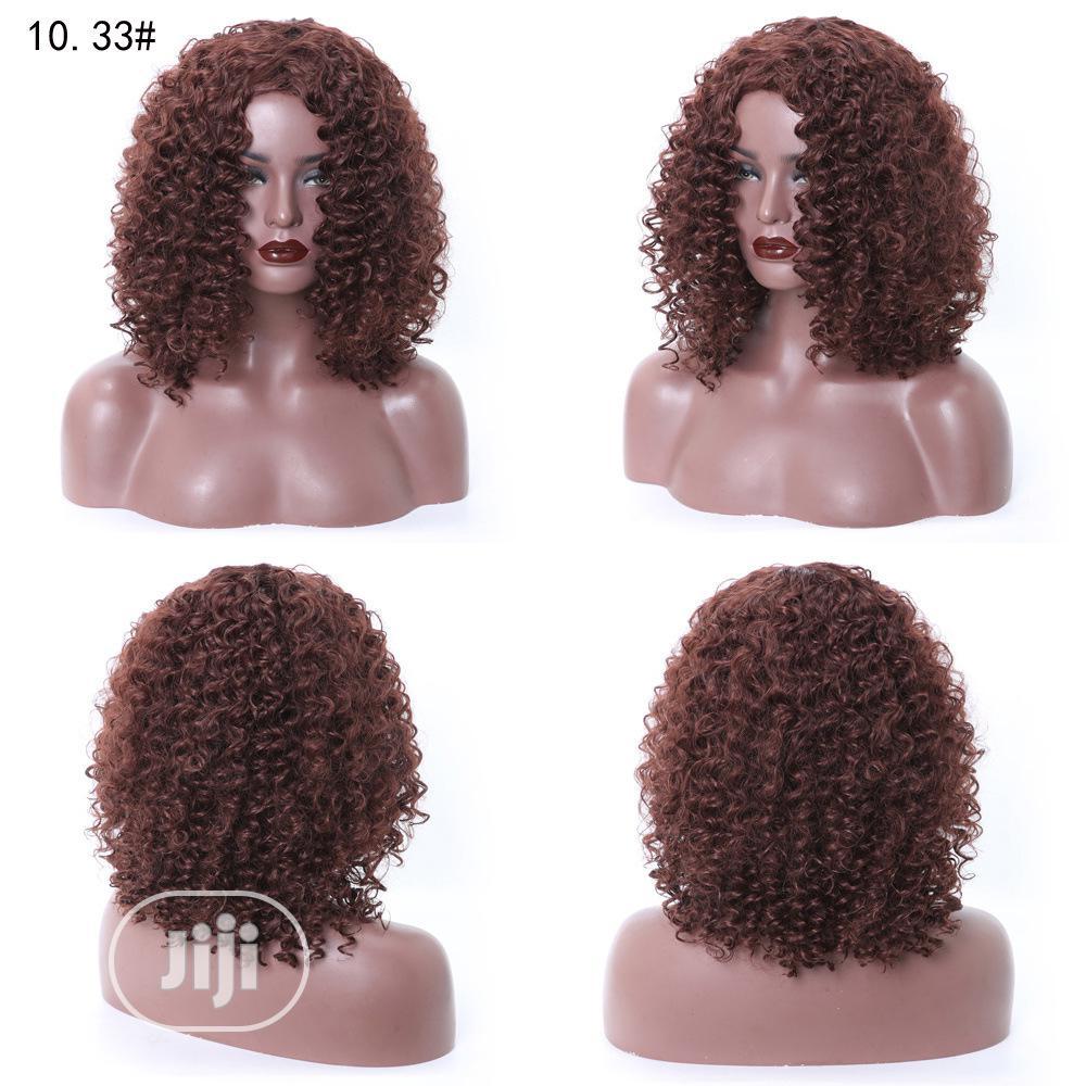 Soft Deep Brown Short Curly Human Hair Wigs