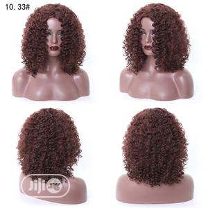 Soft Deep Brown Short Curly Human Hair Wigs | Hair Beauty for sale in Lagos State, Ikoyi