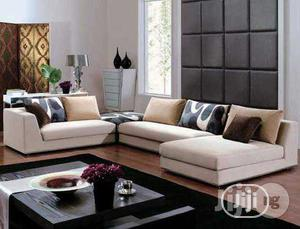 Luxurious L- Shaped Sofa with Throw Pillows | Furniture for sale in Lagos State, Ikeja