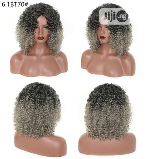 Black African Ladies Dark Grandma Gray Short Curly Hair Wigs | Hair Beauty for sale in Lagos State, Ikeja