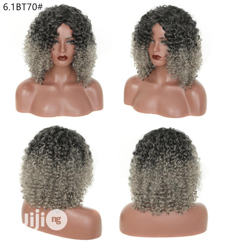 Black Short Dark Grandma Gray Wigs