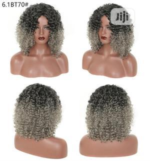Black Dark Grandma Gray African Ladies Short Hair Wig | Hair Beauty for sale in Lagos State, Lekki