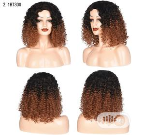 Short Hair Curly Wave Black Light Brown Wig | Hair Beauty for sale in Lagos State, Ikeja