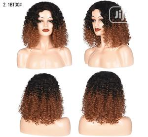 Short Black Light Brown Silky Curl Soft Wig | Hair Beauty for sale in Lagos State, Lekki