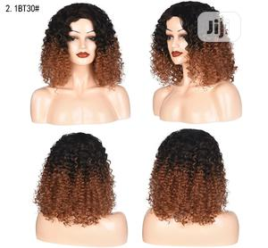 Silky Human Hair Black Light Brown Short Curly Soft Wig | Hair Beauty for sale in Lagos State, Victoria Island