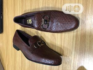 Brown Loafers With Chain, Leather   Shoes for sale in Lagos State, Mushin
