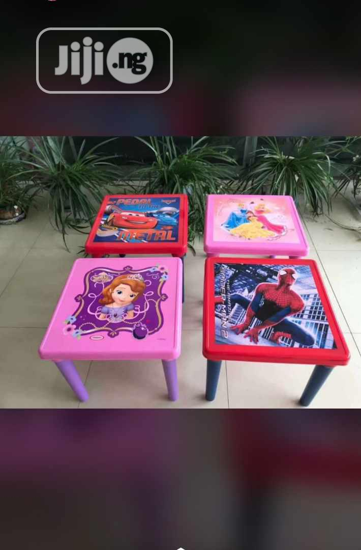 Character Children Chair And Table