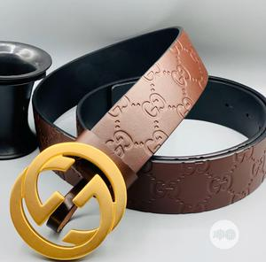 Gucci Leather Belt for Men's   Clothing Accessories for sale in Lagos State, Lagos Island (Eko)