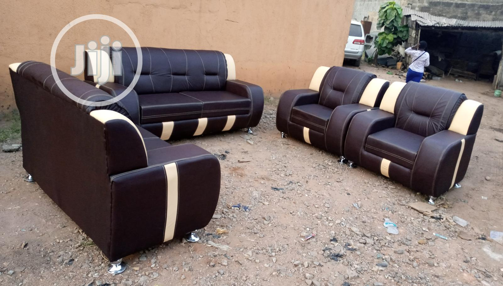 Archive: Complete Set of 7 Seaters Sofa Chair - Leather Couches