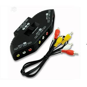 3-way Audio Video AV RCA Switch Selector Box Splitter With/3 RCA Cable | Accessories & Supplies for Electronics for sale in Lagos State, Ikeja