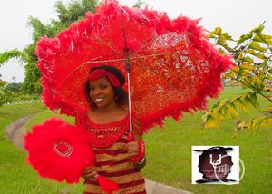 Bridal Umbrella And Fan For Sale. | Wedding Wear & Accessories for sale in Delta State, Sapele