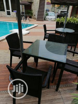 Strong Glass Umbrella Table With Chairs   Furniture for sale in Lagos State, Ikeja