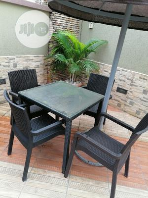 Full Strong Glass Umbrella Table With Chairs   Furniture for sale in Lagos State, Lekki