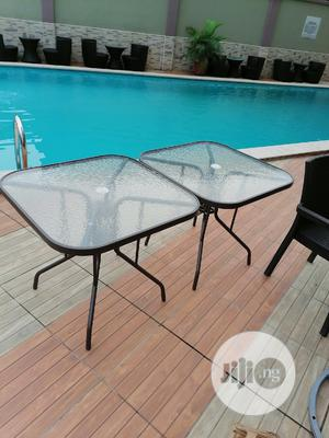 Full Strong Umbrella Glass Square Tables   Furniture for sale in Lagos State, Ajah