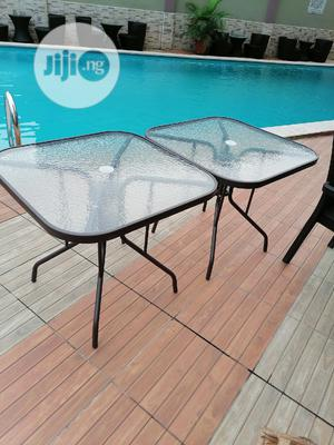 Imported Strong Glass Umbrella Square Tables   Furniture for sale in Lagos State, Victoria Island
