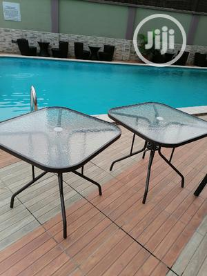 Imported Strong Glass Umbrella Square Tables   Furniture for sale in Lagos State, Ikorodu
