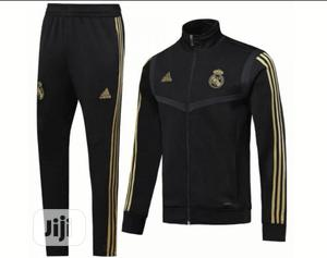 Brand New Real Madrid Presentation Tracksuit Black | Clothing for sale in Lagos State, Surulere