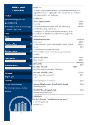 Customer Service Representative | Customer Service CVs for sale in Lagos State, Oshodi