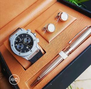 Hublot Chronograph Rubber /Pen and Cufflinks | Watches for sale in Lagos State, Lagos Island (Eko)