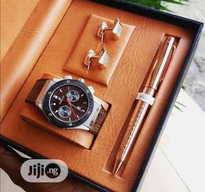 Hublot Chronograph Leather /Pen and Cufflinks | Watches for sale in Lagos State, Lagos Island (Eko)