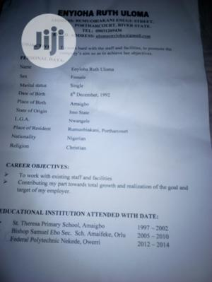 Other CV | Other CVs for sale in Rivers State, Port-Harcourt