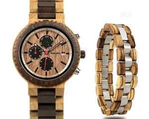 BOBO BIRD Wood Watch Bracelet Set for Men Chronograph Wristwatch   Watches for sale in Lagos State, Surulere