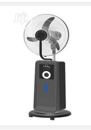 """Andrakk 16"""" Rechargeable Mist Fan With USB + Solar Ports 