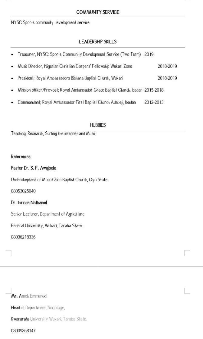 Advertising & Marketing CV   Advertising & Marketing CVs for sale in Akinyele, Oyo State, Nigeria