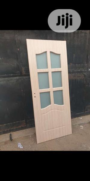 Wooden Door With Glass. | Doors for sale in Lagos State, Orile