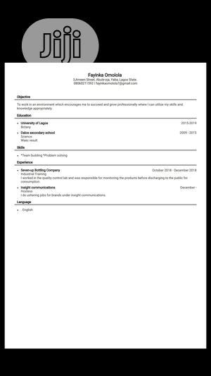 Clerical & Administrative CV | Clerical & Administrative CVs for sale in Ogun State, Ado-Odo/Ota