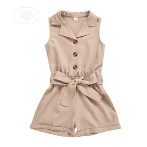 Girls Short Jumpsuit With Belt | Children's Clothing for sale in Lagos State, Surulere