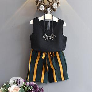 Girls Tank Top And Striped Pant. | Children's Clothing for sale in Lagos State, Surulere