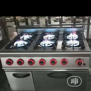 6 Burner Industrial Cooker With Oven And Cabinate   Restaurant & Catering Equipment for sale in Abuja (FCT) State, Asokoro