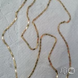Original 18karat Gold Necklace Blade Mirror Design Long | Jewelry for sale in Lagos State, Lagos Island (Eko)