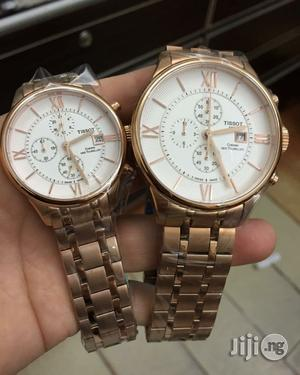 Tissot 1853 Chronograph Gold Couples Watch (2)   Watches for sale in Lagos State