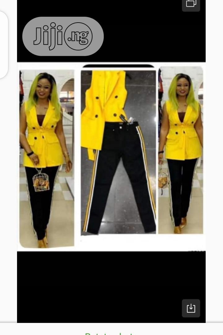 Ladies Sleeveless Blazer Jacket and Trouser | Clothing for sale in Ikeja, Lagos State, Nigeria