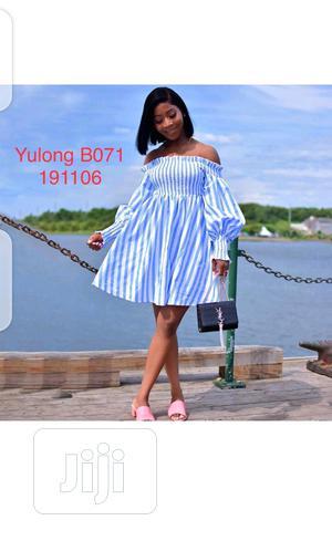 Ladies Long Sleeve Stripe Flay Dress   Clothing for sale in Lagos State, Ikeja