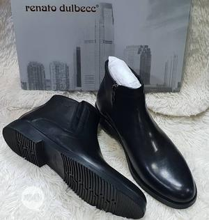 Renato Italian Ankle Boot Shoe (Brown And Black) | Shoes for sale in Lagos State, Lagos Island (Eko)