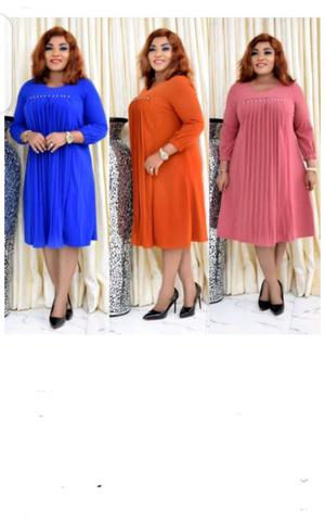 Ladies Long Sleeve Front Pleate Midi Dress   Clothing for sale in Lagos State, Ikeja