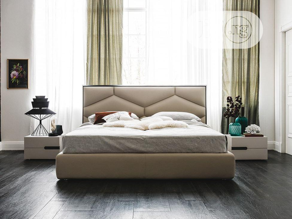 Modern Upholstered Bedframe 6 by 6 With Side Drawer