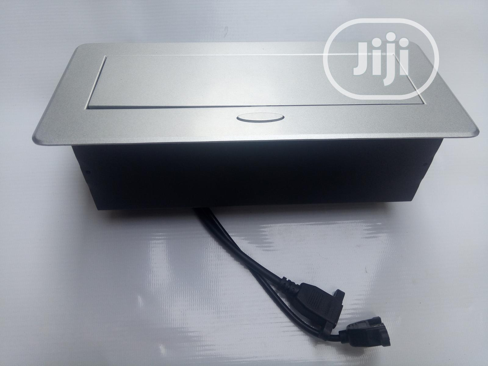 Table and Wall Mounted Cable Management Box
