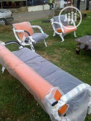 Orange And Black Sofa Chair   Furniture for sale in Lagos State, Ojo