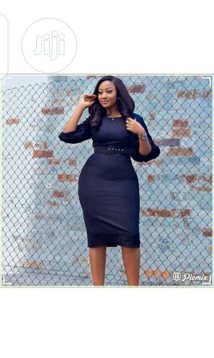 Ladies Fitted Short Sleeve Cooperate Dress | Clothing for sale in Lagos State, Ikeja