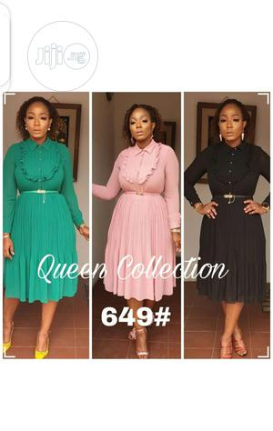 Ladies Pleated Long Sleeve Dress   Clothing for sale in Lagos State, Ikeja